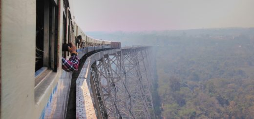 Most scenic train journey in Myanmar