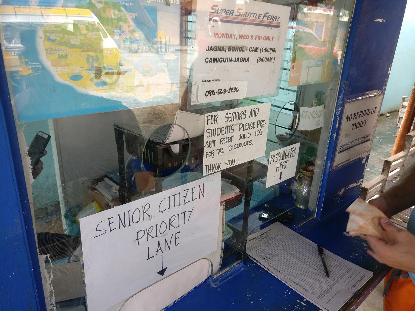 Ferry schedule Jagna to Camiguin