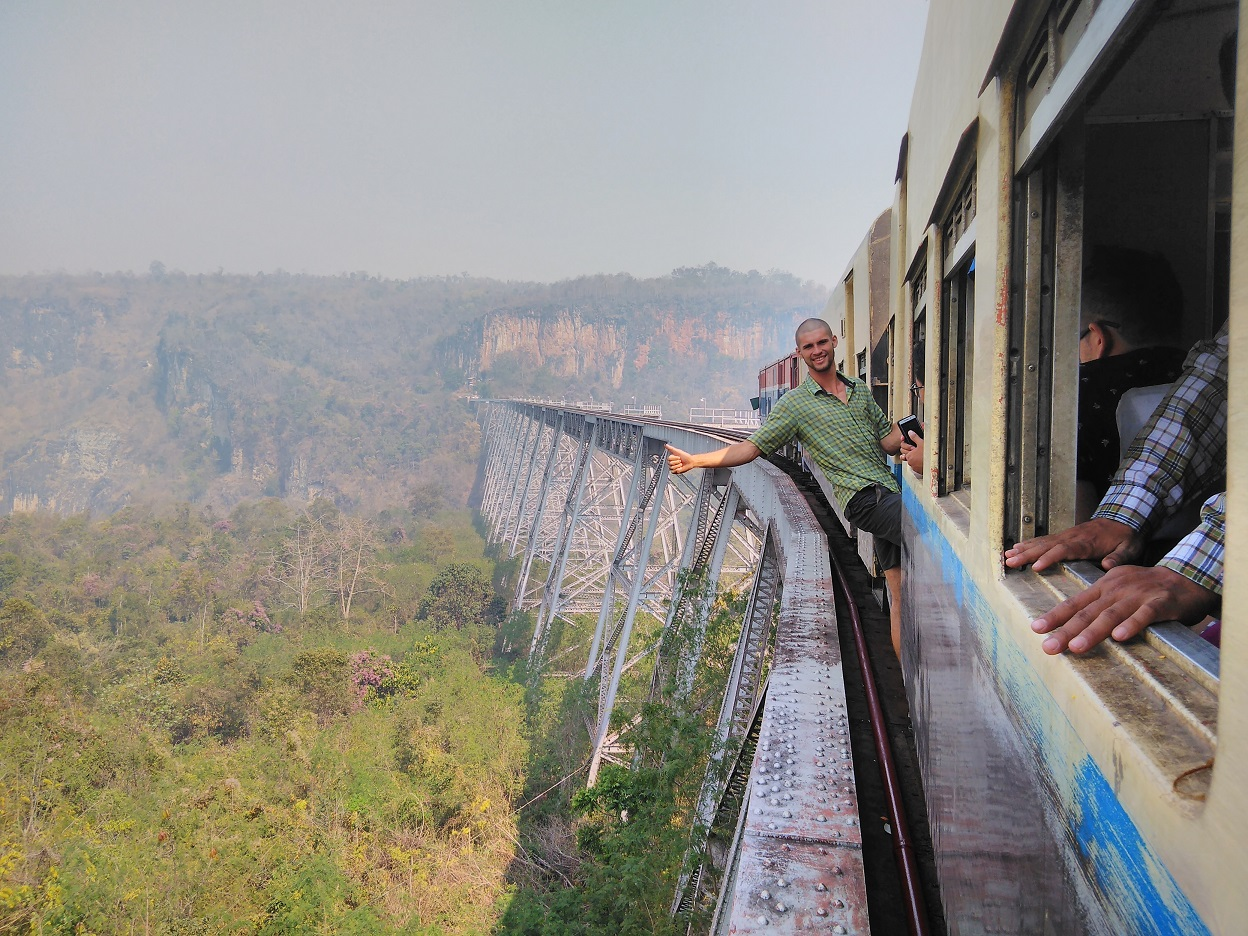 Travelling by train in Myanmar