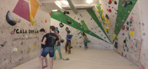 Rock climbing gym in Vilnius