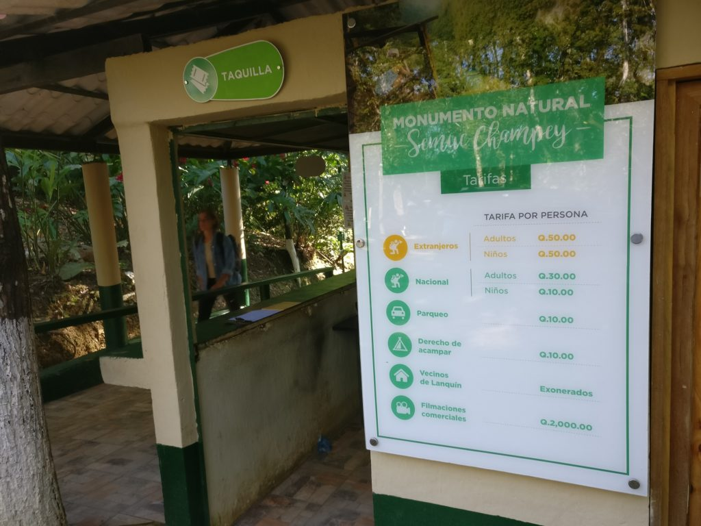 Semuc Champey entrance fees