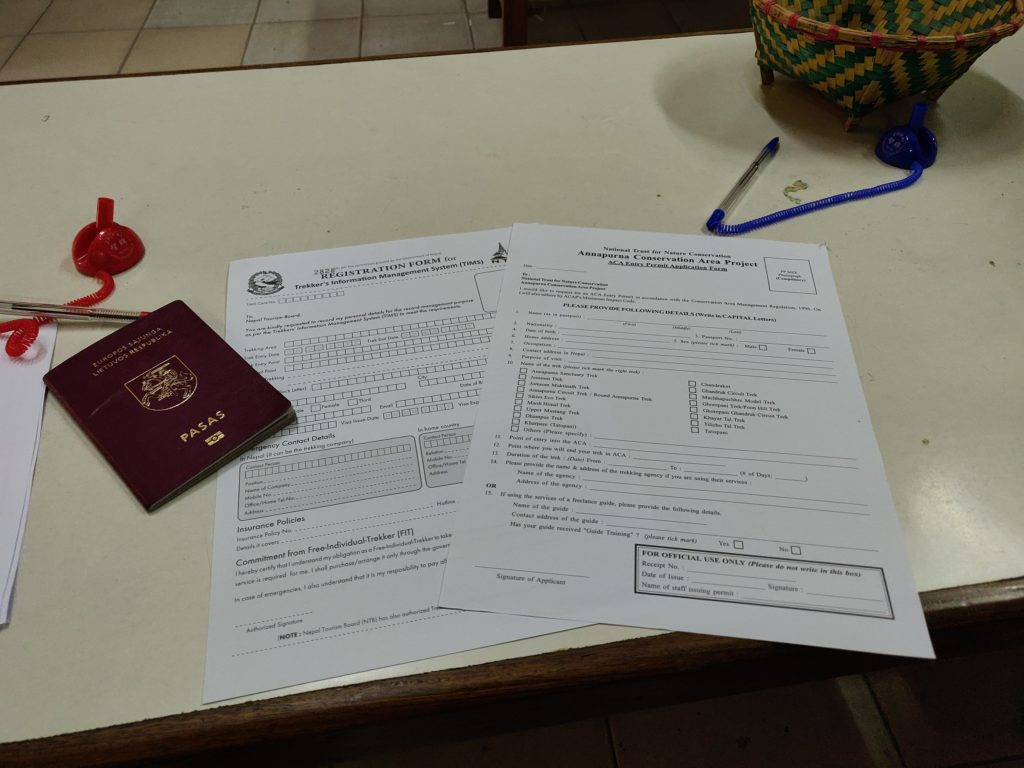 ACAP permit and TIMS card in Kathmandu
