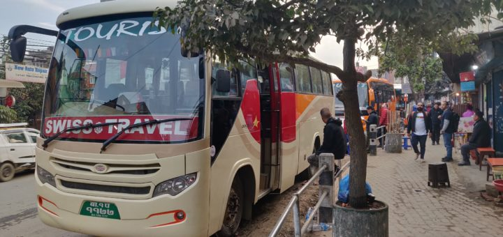 Tourist bus from Kathmandu to Pokhara